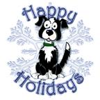 Mick's Border Collie Holiday Snowflake
