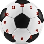 Soccer Clock (green, red or yellow)