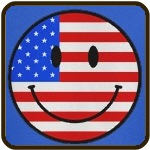 Smiley Face Fourth Of July