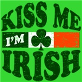 Kiss Me I'm Irish t-shirts