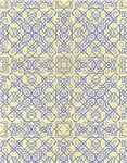 Middle Eastern Tile Pattern in Blue and Yellow