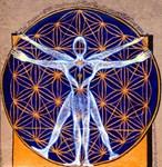 Vitruvian Man Mural/ Source Within...
