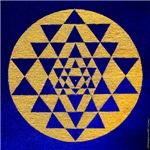 s002.sri yantra gold on blue