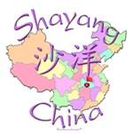 Shayang Color Map, China