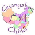 Guangzhou China Color Map