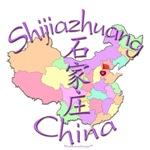 Shijiazhuang China Color Map