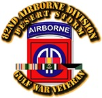 Army - DS - 82nd Airborne Div w SVC Ribbons