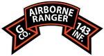G Co 143rd Infantry (Ranger) Scroll