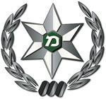 Israel - Green Border Police Hat Badge - No Text
