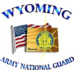 WYOMING WITH FLAG