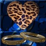 Leopard Heart & Rings