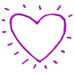 Purple Chrome Heart