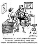A Super Hero Gives a Colonoscopy
