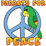 Cartoon Parrot Peace Symbol