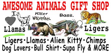 Awesome Animals Shop Ligers llamas & MORE!