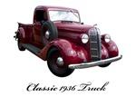 1936 Vintage Pickup Truck Art
