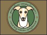 I Love My Italian Greyhound (Cream)