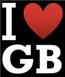 I Love GB Dark Tee