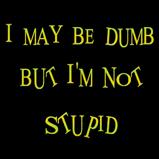 I may be dumb...