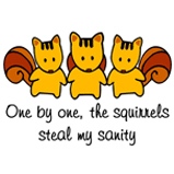 One by one, the squirrels...