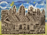 union station blockprintpainting