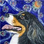 Starry Night Bernese Mountain Dog