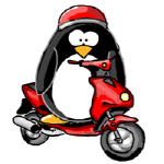 Red Scooter Penguin