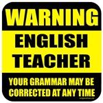 Warning English teacher