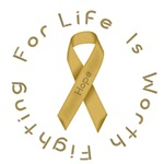 Gold Ribbon - Hope