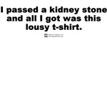 I passed a kidney stone