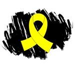 Scribble Ribbon Endometriosis Shirts