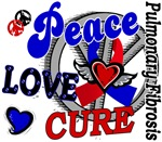 Peace Love Cure 2 Pulmonary Fibrosis Gifts