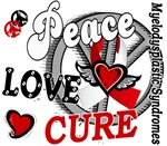 Peace Love Cure 2 MDS T-Shirts