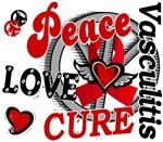 Peace Love Cure 2 Vasculitis T-Shirts