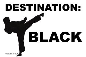 Destination:  BLACK Karate Tee Shirts Apparel Gift