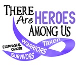 Heroes Among Us Esophageal Cancer Shirts