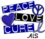 PEACE LOVE CURE ALS T-Shirts & Gifts