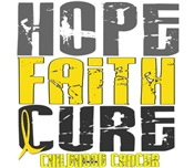 HOPE FAITH CURE Childhood Cancer Shirts & Gifts