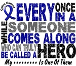 HERO COMES ALONG 1 Colon Cancer Shirts & Gifts