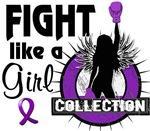 Fight Like a Girl Fibromyalgia Shirts Gif