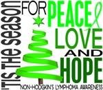 Christmas 1 Non-Hodgkin's Lymphoma Cards Ornaments