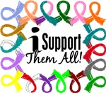 I Support Them All Awareness Ribbon T-Shirts