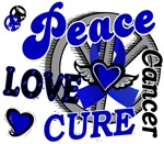 Peace Love Cure 2 Anal Cancer Shirts Gifts