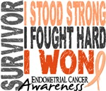 Survivor 4 Endometrial Cancer Shirts and Gifts