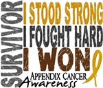 Survivor 4 Appendix Cancer Shirts and Gifts