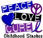 Peace Love Cure Childhood Strokes Shirts