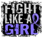 Fight Like a Girl 31.8 Stomach Cancer Shirts