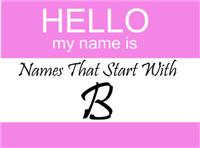 Names That Start With B