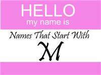 Names That Start With M
