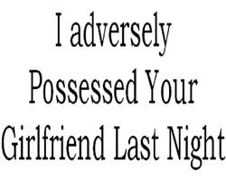 Adverse Possession Male